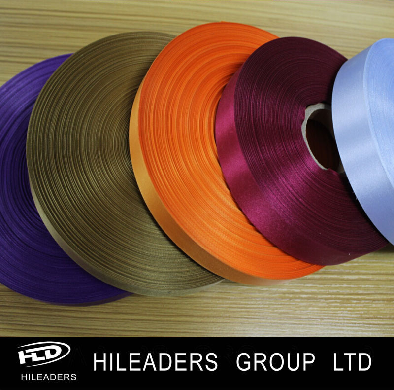 LH265 Polyester Satin Label Ribbon Fabric