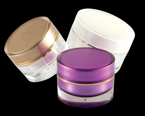 acrylic empty clear and round cosmetic jars