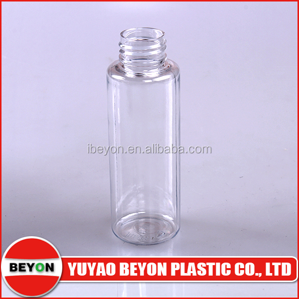 clear pete material 3 oz plastic cosmetic bottles