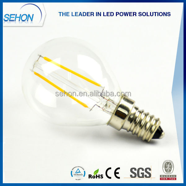 china wholesale 12v led lights g45 led filament bulb 2w e14 led lamp. Black Bedroom Furniture Sets. Home Design Ideas