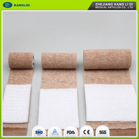 KLIDI Yueqing Medical Consumable Factory Made Absorbent PBT Material First Aid Bandage With Pad