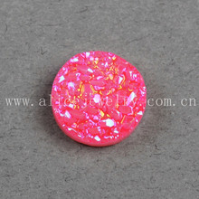 Wholesale round natural pink druzy cabochon beads druzy stone