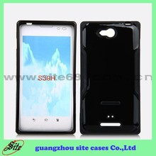 Wholesale Price Cell Phone PC TPU Cover for Sony Xperia C S39H Combo Case