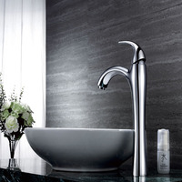 More Than 15 Years Manufacture Chrome 2 Size Bathroom Wash Basin Faucet