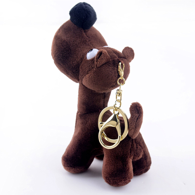 Plush toy key buckle cute puppy stuffed animal decorative keychain toys