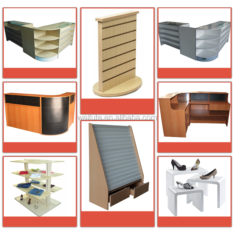 Top quality cash counter table,wood cash counter,shop cash counter design