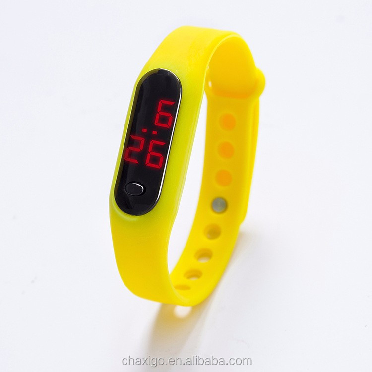 Wholesale Cheap Silicon Led Watch sport digital led watch with button