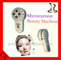 Handheld microcurrent facial massager with led light BD-CS004