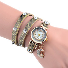 New Style PU Leather Strap Women Fashion Color Watch