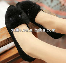 oullis shoes high quality shoes ladies fancy flat dress shoes CP6228