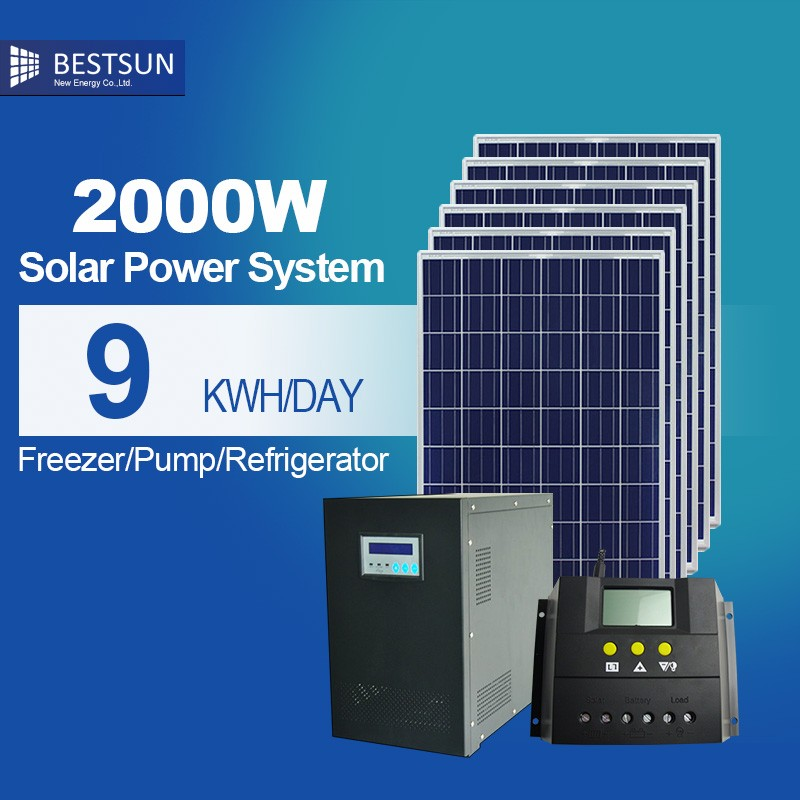 BEST SUN Portable Household Solar Power Generator / Home Use 2000W Solar Power System