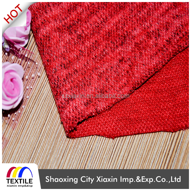 Honeycomb knit dry fit sports fabric for clothing