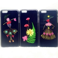 Beautiful Design Inlaid Flower Butterfly TPU Back Case for Iphone 6 TPU Case