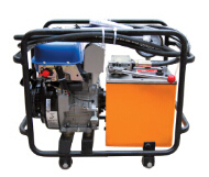 High work efficiency diesel engine high hydraulic pump with double stage pump output
