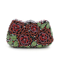 Top quality rose flower beaded evening bags