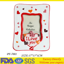ceramic cheap photo picture frames for lover