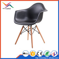 2016 hot sale wood legs colored DAW plastic chairs emes Armchair at Discount Sale