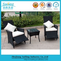 Comfortable Outdoor Wicker Furniture 2 Seater Sofa Bar Chairs And Square Table For Sale