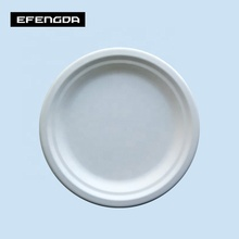 Eco-Friendly biodegradable compostable sugarcane bagasse 7inch food <strong>plate</strong>