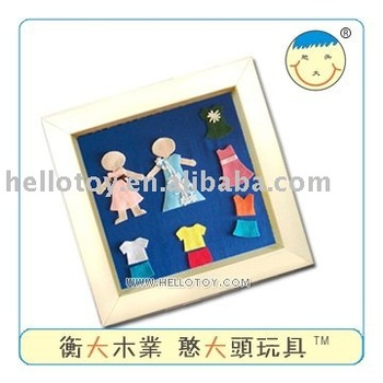 Decoration frame dressing girls of DIY toys