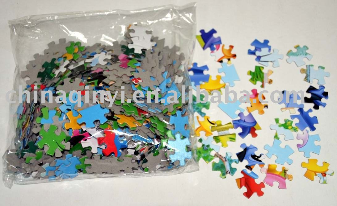 4D paper jigsaw puzzle,promotional paper jigsaw puzzle for funny and educational
