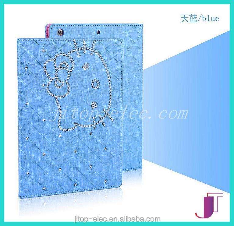 Colorful hot fashion protecting cheap PU leather 3d image protective case for ipad case /for ipad air 2 case