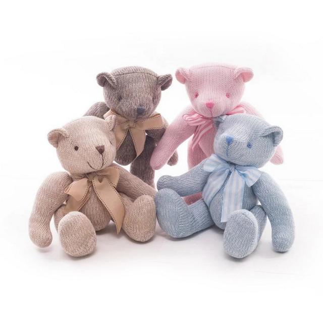 Knitting teddy bear toy limbs mobile teddy bear custom plush doll gift factory wholesale