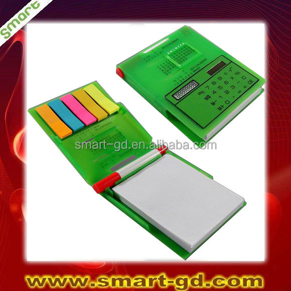 Best selling solar notebook calculator with pen for promotion