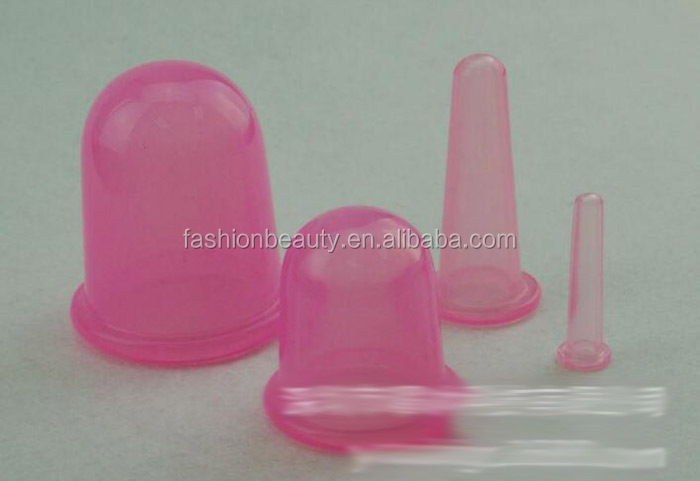 silicon body massage cup vacuum rubber glass sucker Vacuum Body and Facial Cup