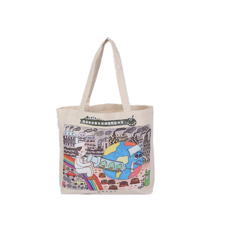 9oz cross stitching original color japan large tote canvas bag