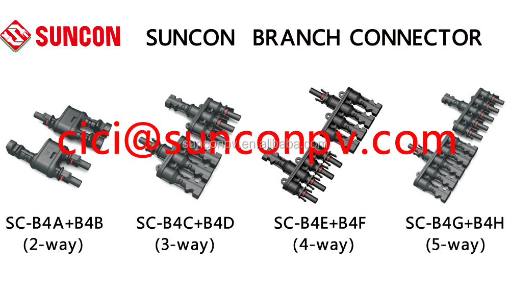 MC4 5-way branch connector ip67,pv T-type branch plug (FMMMMM+MFFFFF)