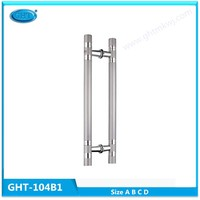 Stainless steel double side door pull handle with high quality for glass door