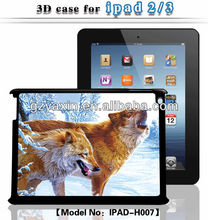 3d case for ipad 3,professional factory supply 3d case for ipad case made in china