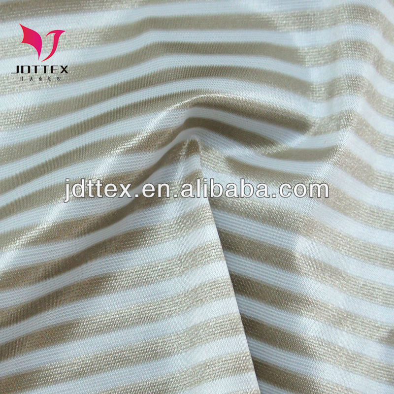 2013 shiny weft knitted shadow stripe fabric for clothing