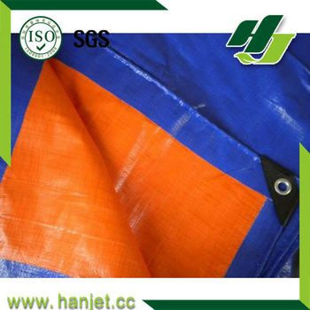 120g cheap canvas Orange/Blue PE tarpaulin China HDPE tarpaulin with good quality for Malaysia