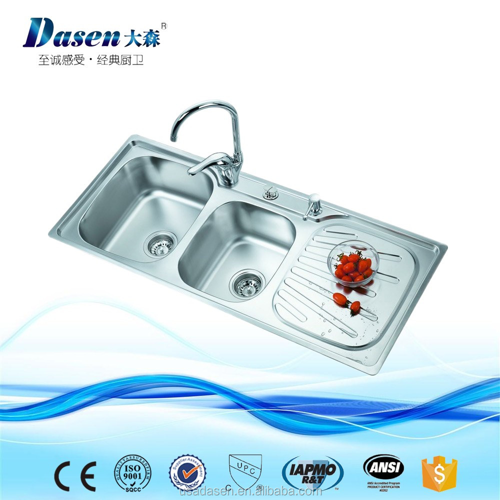 Dasen On Sale 1100*460 3 Compartment Sink One Piece Toilet With Sink ...