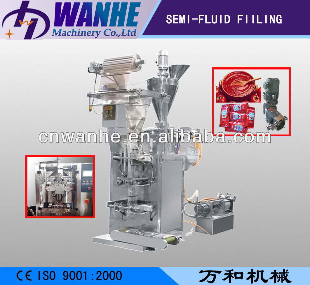 WHIII-S500 automatic fruit jam filling Machine shampoo sachet tomato paste packaging machine