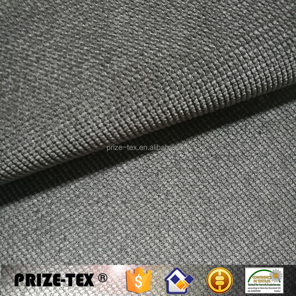 polyester nylon corduroy fabric water proof face knit bonding back