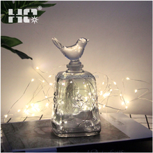 New Products Top Quality Glass Bird Pretty Wedding Party Decoration Icicle Fairy Light Curtain