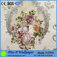 Plus P cheap wholesale modern 3d mural wallpaper