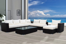 Wicker Patio modular sofa set make by wide flat rattan furniture