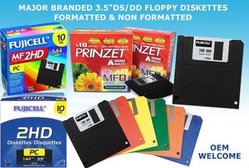 "3.5"" DS/DD Floppy Diskettes"