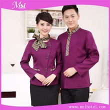 Factory price top-rated high quality long sleeves customized restaurant hotel waiter uniform