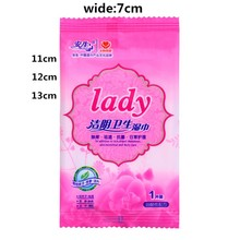 Woman Ideal Wet Wipes after Sports, Traveling, Car, Purse and Toilet