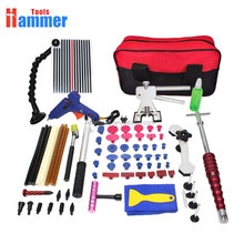 PDR Tools Kit Paintless Dent Repair Tool Set for Car body dent removal Glue sticks Glue Gun hand Tools Bag