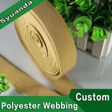 Colored garment twill woven elastic tape webbing