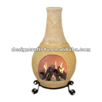 Chimeneas de barro pin de miriam aguirre en chimeneas de barro pinterest estufas y barro - Chimeneas de barro ...
