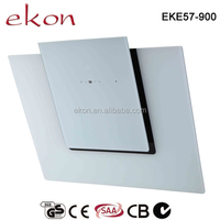 European style white glass hammered copper 90cm ductless range hood