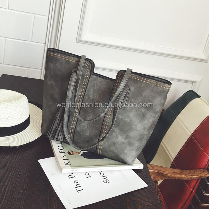 New Casual Totes Nubuck Handbags Hot Sale Women Bag