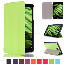 tablet case for LG G Pad 2 8.0 V498 with tri-fold leather tablet PC case